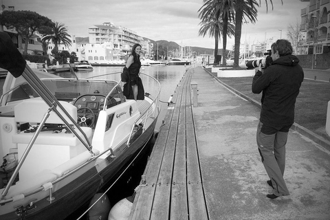 Publicity images Camila's Shoes at the channels of Empuriabrava (Gerona)