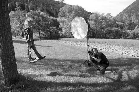 Photographic production of the new camelot shoe collection in Andorra